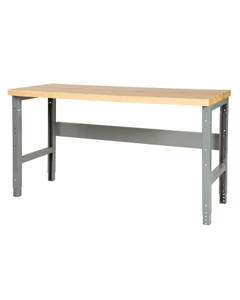 "60"" x 24"" Wood Top Workbench - Adjustable Height"