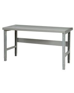 "60"" x 24"" Steel Workbench - Adjustable Height"