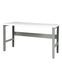 "48"" x 30"" Plastic Top Workbench - Adjustable Height"