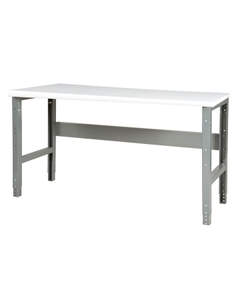 "60"" x 24"" Plastic Top Workbench - Adjustable Height"