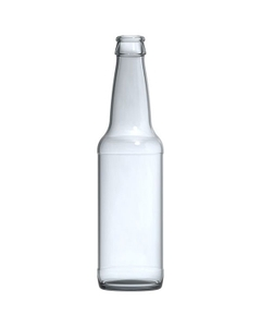 12 oz. (355 ml) Clear Glass Long Neck Beer Bottle, Crown Pry-Off, 26-611