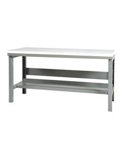 "48"" x 24"" Plastic Top Workbench w/ Lower Shelf - Adjustable Height"
