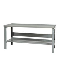 "48"" x 24"" Steel Workbench w/ Lower Shelf - Adjustable Height"