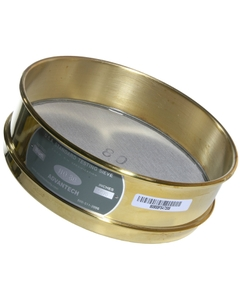 """No. 80 Mesh Testing Sieve, 8' Dia., 2"""" Height (Full), Brass Frame, SS Wire Cloth"""