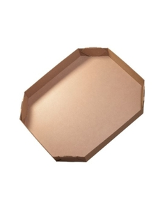 """46"""" x 38"""" x 6"""" Heavy-Duty Octagon Corrugated Lid for 81BX24, 275#/ECT-44"""
