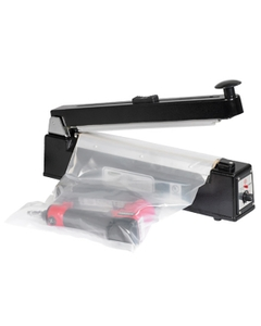 """12"""" Impulse Sealer w/Cutter, Hand Operated, 1/16"""" Seal, Up to 12 Mil Thickness"""