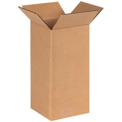 "6"" x 6"" x 12"" Tall Corrugated Box, Single Wall, 200#/ECT-32"