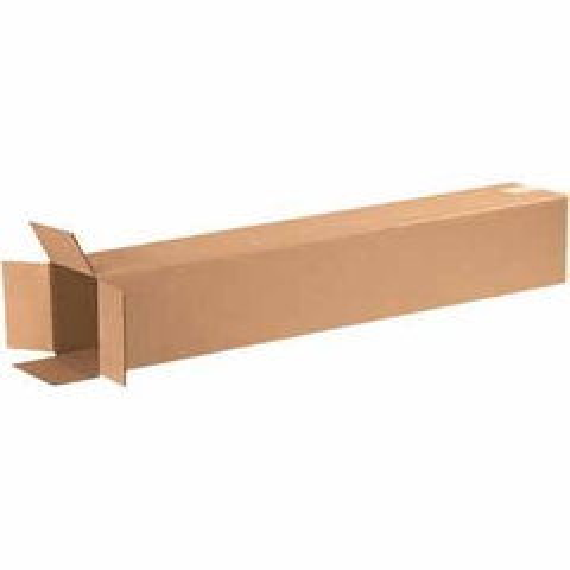"6"" x 6"" x 36"" Tall Corrugated Box, Single Wall, 200#/ECT-32"