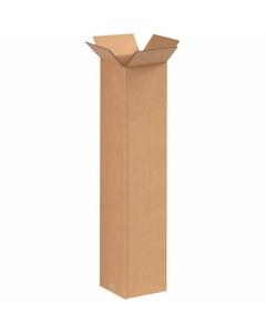 "8"" x 8"" x 36"" Tall Corrugated Box, Single Wall, 200#/ECT-32"