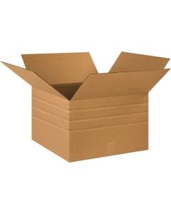 "18"" x 18"" x 12"" Multi-Depth Corrugated Box, 200#/ECT-32"
