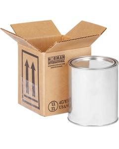 1 x 1 Quart Paint Can Hazmat UN 4G Shipping Box, 275#