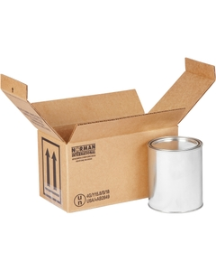 2 x 1 Quart Paint Can Hazmat UN 4G Shipping Box, 275#