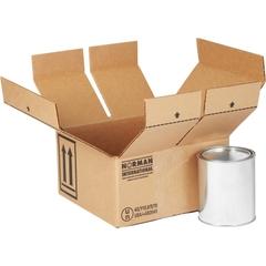 4 x 1 Quart Paint Can Hazmat UN 4G Shipping Box, 275#