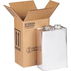 1 x 1 Gallon F-Style Hazmat UN 4G Shipping Box, 350#