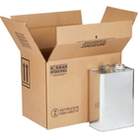 4 x 1 Gallon F-Style Hazmat UN 4G Shipping Box, 350#