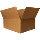 "20"" x 13-3/8"" x 6-7/8"" Heavy-Duty Corrugated Box, Single Wall, 275#/ECT-44"