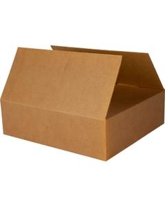 "22"" x 20"" x 6"" Heavy-Duty Flat Corrugated Box, Single Wall, 275#/ECT-44"