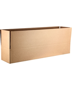 "38-1/4"" x 8-1/4"" x 6"" Heavy-Duty Corrugated Box, Single Wall, 275#/ECT-44"