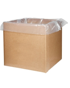 """51"""" x 37"""" x 90"""" - 1.4 mil Clear Polyethylene Liner for Gaylord & Cargo Containers"""