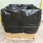"""44"""" x 45"""" x 85"""" - 6 mil Black Protective Liner for 36"""" x 36"""" Gaylord & Cargo Containers"""