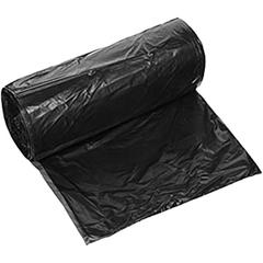 """23"""" x 10"""" x 40"""" Black PE Trash Bags, 1.5 mil, 100/rl"""