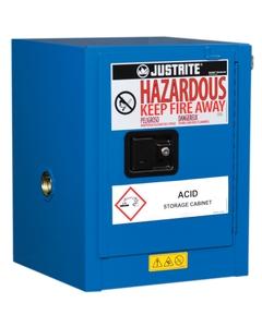 Sure-Grip® EX Countertop Hazardous Material Safety Cabinet, 4 Gallon, S/C Door, Royal Blue