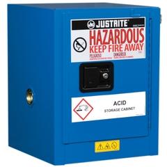 ChemCor® Lined Countertop Hazardous Material Safety Cabinet, 4 Gallon, S/C Door, Royal Blue