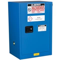 Sure-Grip® EX Compac Hazardous Material Safety Cabinet, 12 Gallon, S/C Door, Royal Blue