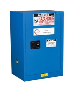 Sure-Grip® EX Compac Hazardous Material Safety Cabinet, 12 Gallon, S/C Door, Royal Blue (Intl)