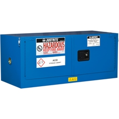 ChemCor® Lined Piggyback Hazardous Material Safety Cabinet, 12 Gallon, S/C Doors, Royal Blue