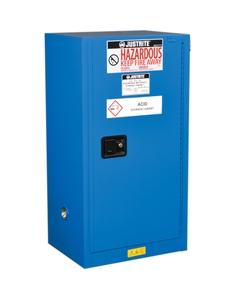 Sure-Grip® EX Compac Hazardous Material Safety Cabinet, 15 Gallon, S/C Door, Royal Blue
