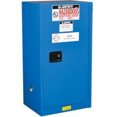 Sure-Grip® EX Compac Hazardous Material Safety Cabinet, 15 Gallon, S/C Door, Royal Blue (Intl)