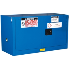 Sure-Grip® EX Piggyback Hazardous Material Safety Cabinet, 17 Gallon, S/C Doors, Royal Blue (Intl)