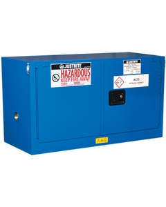 ChemCor® Lined Piggyback Hazardous Material Safety Cabinet, 17 Gallon, S/C Doors, Royal Blue (Intl)