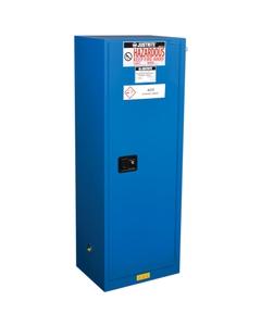Sure-Grip® EX Slimline Hazardous Material Safety Cabinet, 22 Gallon, S/C Doors, Royal Blue