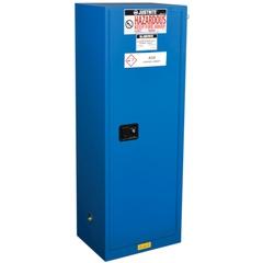 ChemCor® Lined Slimline Hazardous Material Safety Cabinet, 22 Gallon, S/C Doors, Royal Blue