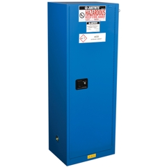 ChemCor® Lined Slimline Hazardous Material Safety Cabinet, 22 Gallon, S/C Doors, Royal Blue (Intl)