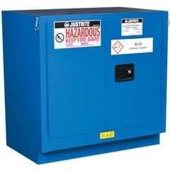 Sure-Grip® EX Undercounter Hazardous Material Safety Cabinet, 22 Gallon, S/C Doors, Royal Blue