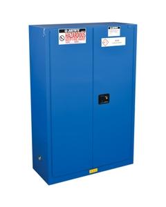 ChemCor® Hazardous Material Safety Cabinet, 45 Gallon, S/C Doors, Royal Blue (Intl)