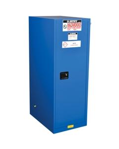 Sure-Grip® EX Deep Slimline Hazardous Material Safety Cabinet, 54 Gallon, S/C Doors, Royal Blue (Intl)