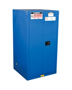ChemCor® Lined Hazardous Material Safety Cabinet, 60 Gallon, S/C Doors, Royal Blue