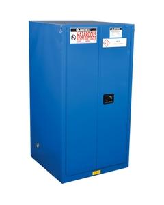 ChemCor® Lined Hazardous Material Safety Cabinet, 60 Gallon, S/C Doors, Royal Blue (Intl)