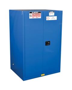 Sure-Grip® EX Hazardous Material Safety Cabinet, 90 Gallon, S/C Doors, Royal Blue (Intl)