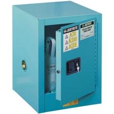 Sure-Grip® EX Countertop Corrosives/Acid Safety Cabinet, 4 Gallon, M/C Doors, Blue