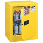 Sure-Grip® EX Benchtop Flammable Safety Cabinet for Aerosol Cans, M/C Door, Yellow
