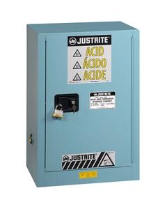 Sure-Grip® EX Compac Corrosives/Acid Safety Cabinet, 15 Gallon, S/C Door, Blue (Intl)