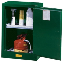 Sure-Grip® EX Compac Pesticides Safety Cabinet, 12 Gallon, S/C Doors, Green