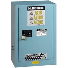 Sure-Grip® EX Compac Corrosives/Acid Safety Cabinet, 12 Gallon, S/C Doors, Blue