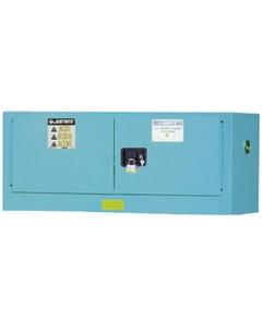 Chemcor® Lined Piggyback Corrosives/Acid Safety Cabinet, 12 Gallon, M/C Doors, Blue