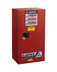 Sure-Grip® EX Combustibles Paint & Ink Safety Cabinet, 20 Gallon, M/C Door, Red
